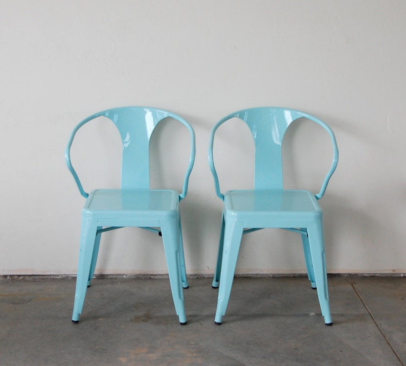 Custom Painted Tolix Style Arm Chair Color of your Choice image 0