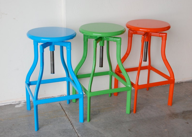 Custom Painted Toledo Adjustable Style Stool in the Color of image 0