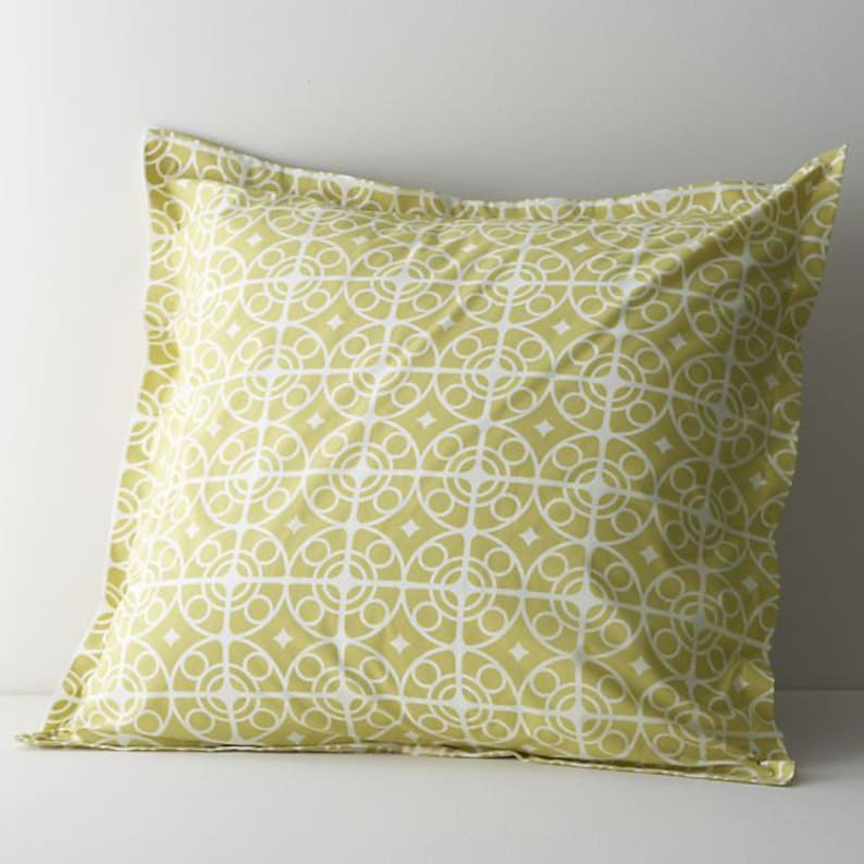 Custom Designed Patterned & Sewn Euro Sham:  in the fabric of image 0