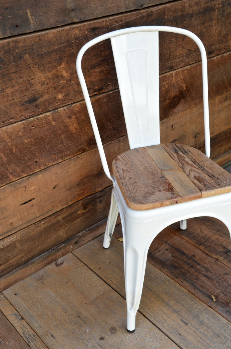 Custom Reclaimed Wood Seat Retro Fit Kit for Tolix Stools & image 0