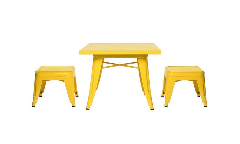 Custom Tolix Style Child Size Table Chair Set:  Option to image 0