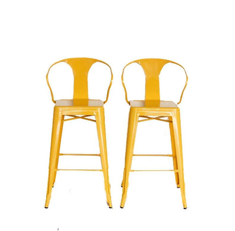 Custom Tolix Style Arm Chair Bar Stool in 30 Bar Height: image 0