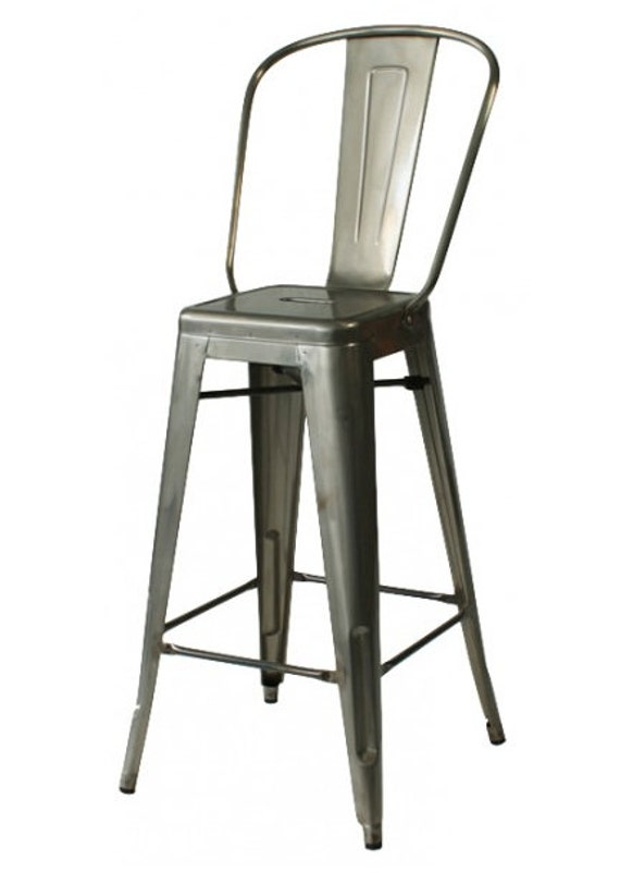 Magnificent Custom Tolix Style High Back Chair Counter Stool In 26 Height Painted In The Color Of Your Choice Forskolin Free Trial Chair Design Images Forskolin Free Trialorg