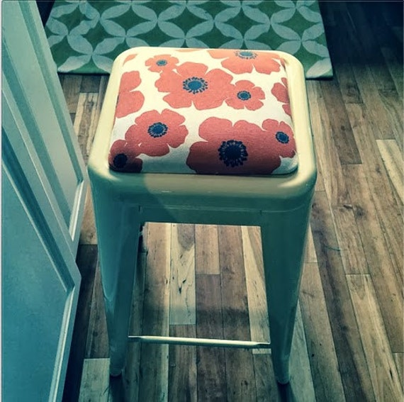 Pleasing Custom Upholstered Seat Cushion Tolix Style 30 Bar Height Stools In The Fabric Of Your Choice Cjindustries Chair Design For Home Cjindustriesco