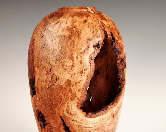 Gorgeous Cherry Burl Vase