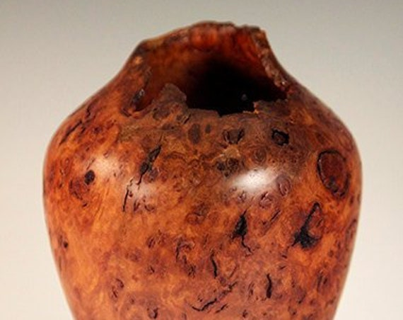 Turned Australian Redbox Burl Vase