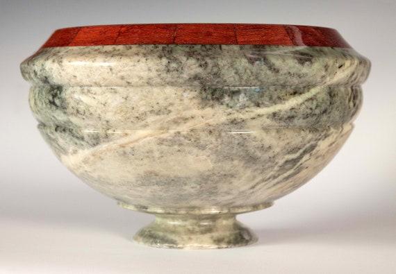 Italian Soapstone Rimmed Bowl