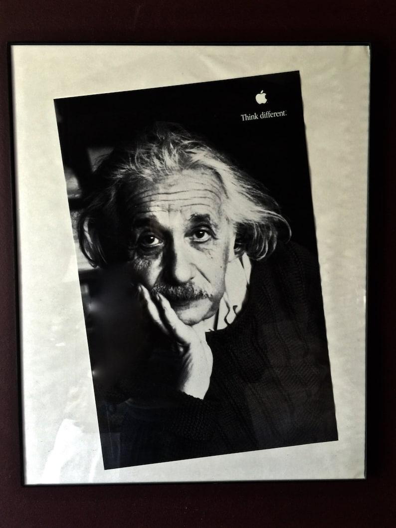 Original Apple Computer Albert Einstein Think Different Poster
