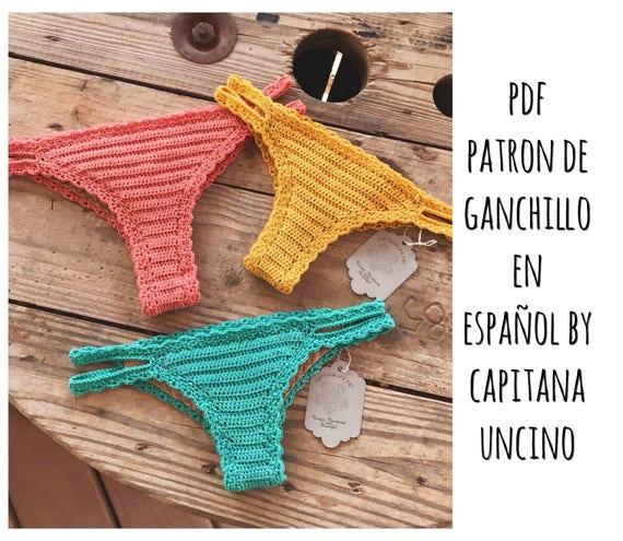 PDF PATRON de Ganchillo, Marina Parte de Abajo estilo Brazilian, tallas XS,S,M,L, en español