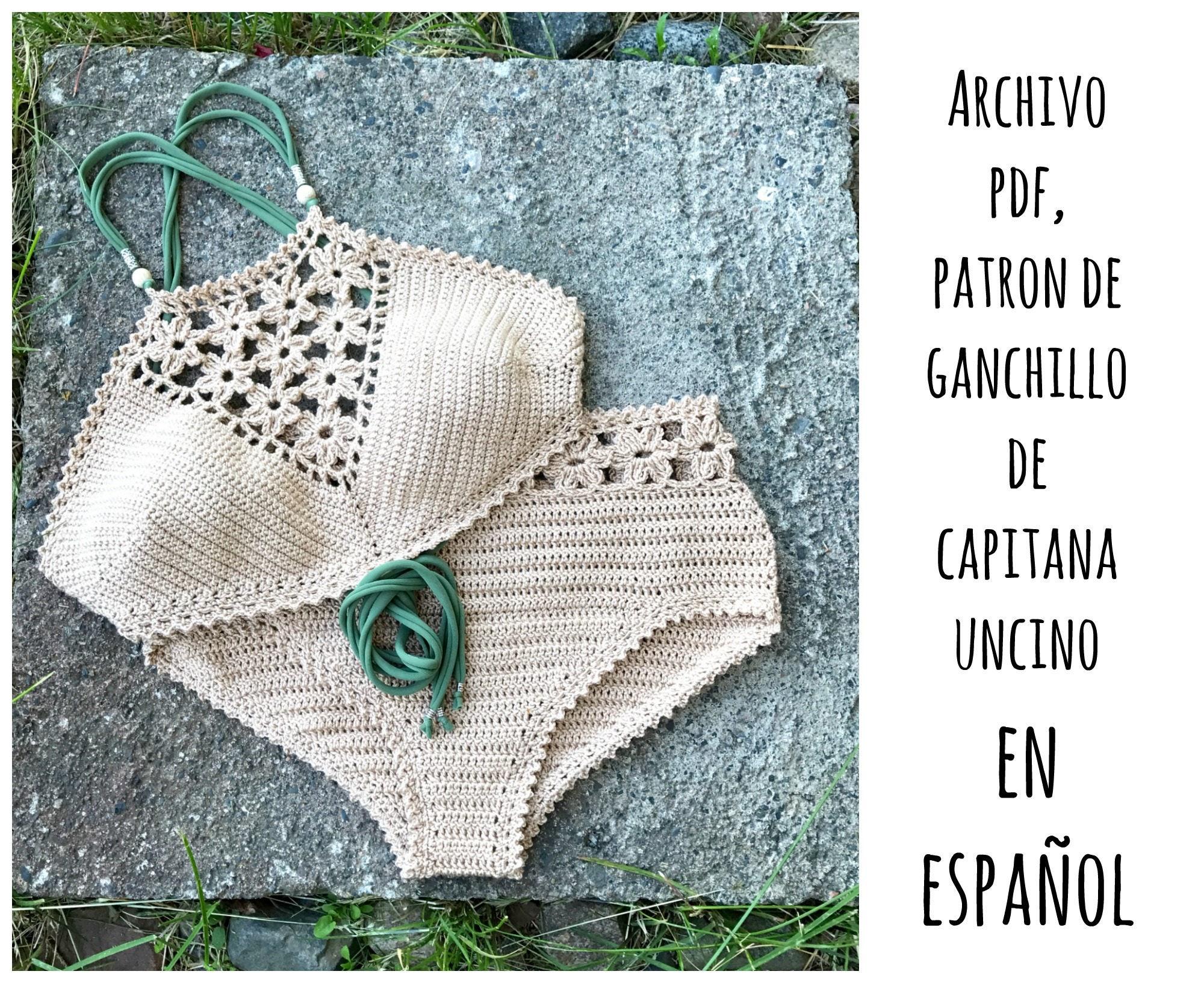 PDF PATRON de Ganchillo, Coralia, 2 partes, tallas XS,S,M,L, en ...