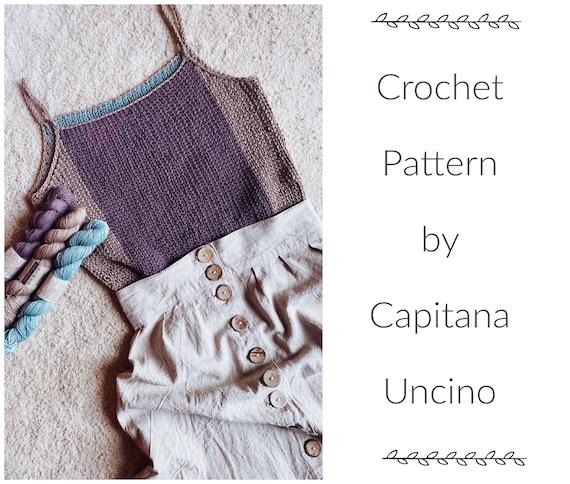 PDF-file for Crochet PATTERN, Laventeli Top, sizes XS-xxL, 6 sizes