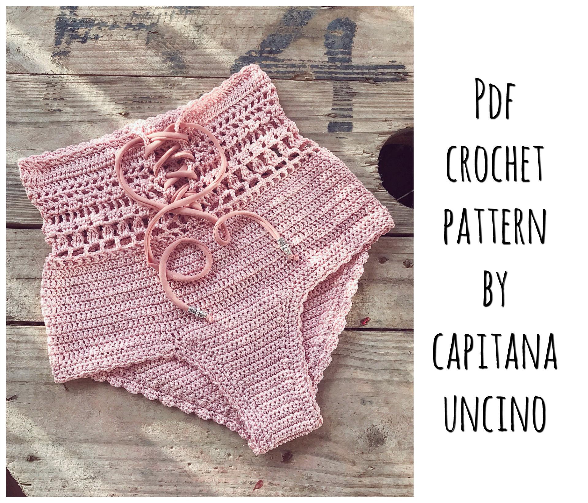 Pdf File For Crochet Pattern Angela Crochet Bikini Bottom Sizes