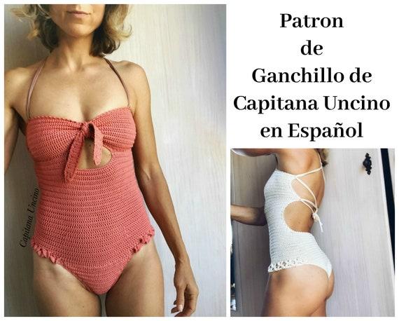 PDF PATRON de Ganchillo, Ariella Bañador Brazilian, tallas XS,S,M,L,xl, en español