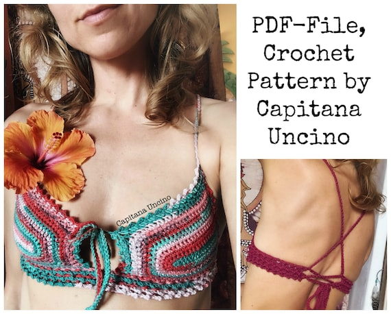 PDF-file for Crochet PATTERN, Chasing Stars Crochet Yoga Top, Sizes XS,S,M,L, xL, Croptop