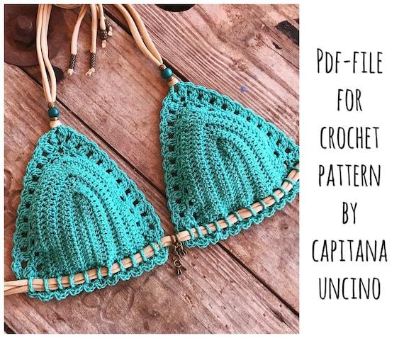PDF-file for Crochet PATTERN, Serafina Crochet Bikini Top Sizes XS-L