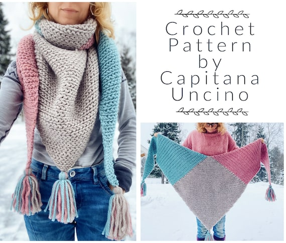 PDF-file for Crochet PATTERN,  Kaira Scarf