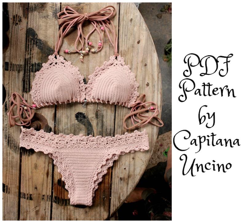 PDF Crochet PATTERN for Lorelei Crochet Bikini Top and image 0