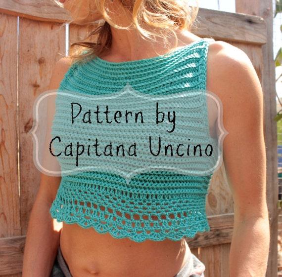 PDF-file for Crochet PATTERN, Eirene CrochetTop Sizes XS-L, Easy