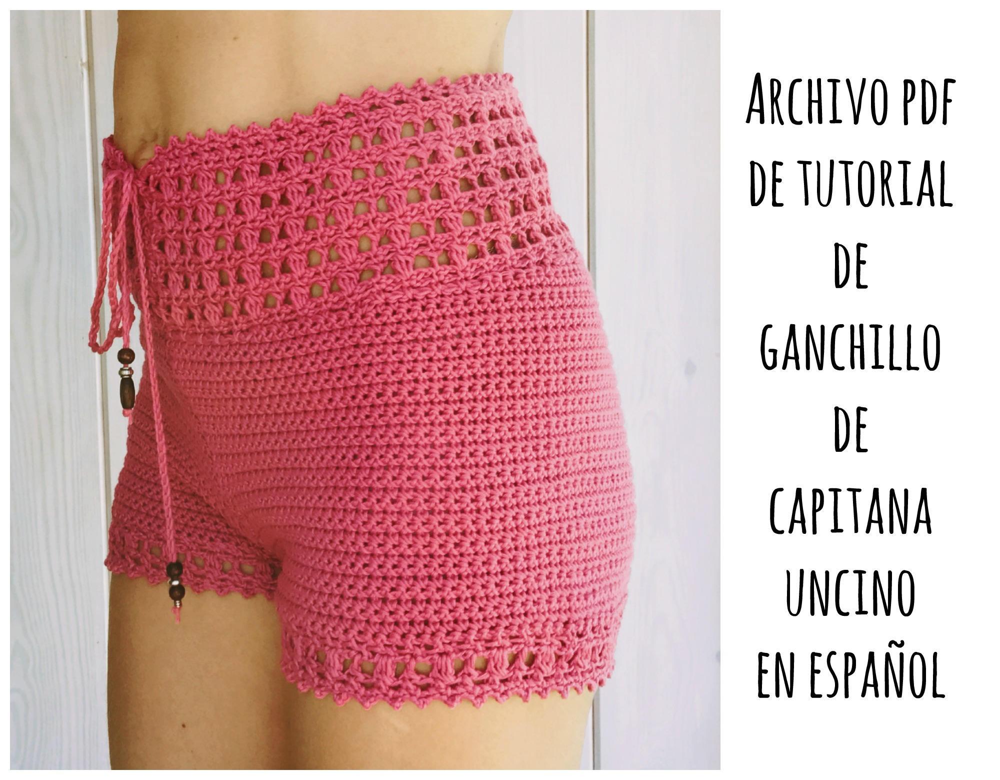 PDF PATRON de Ganchillo para Leyla Pantalones cortos con cintura ...