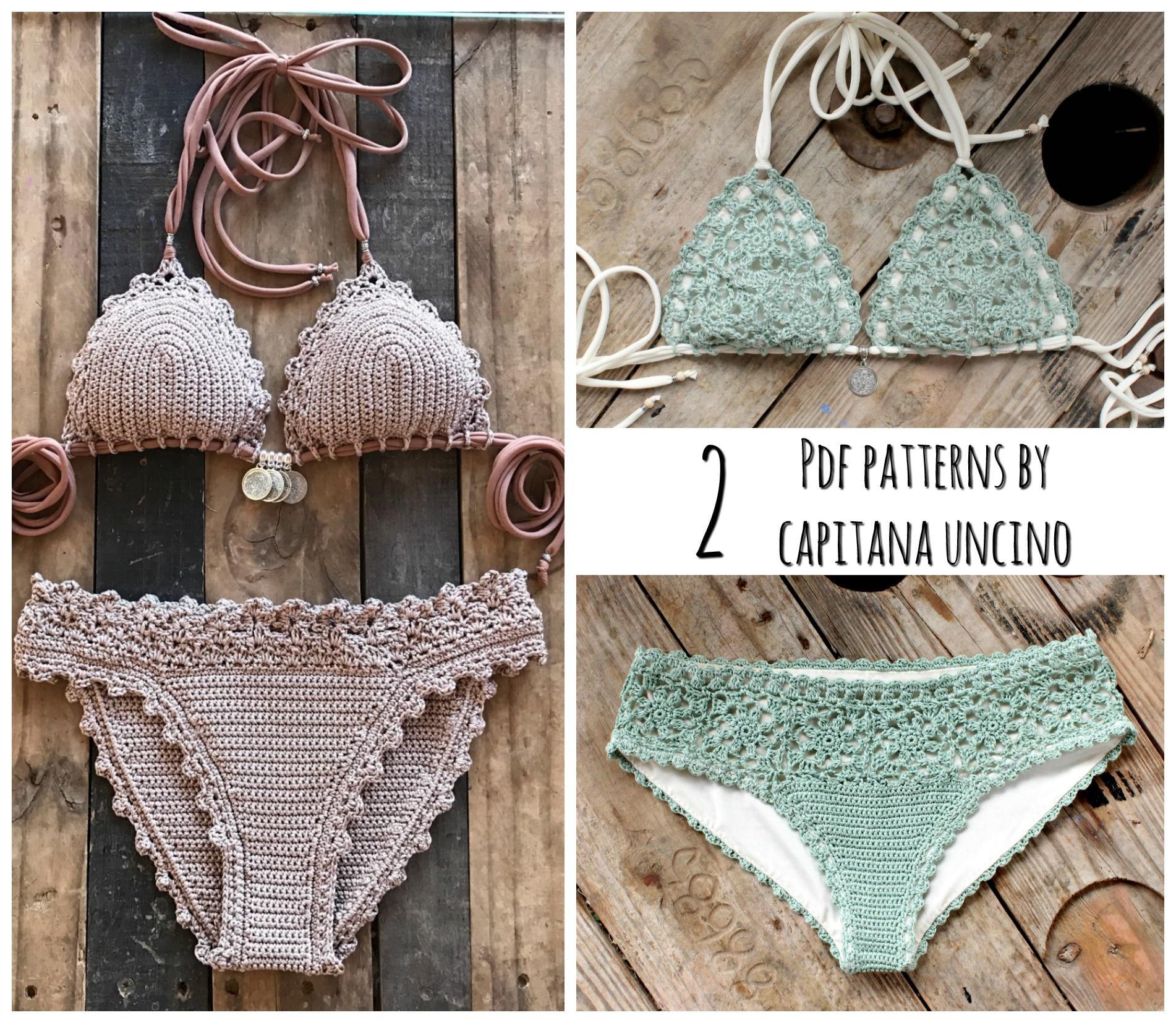 2 Pdf Crochet Patterns Lorelei Bikini Pattern With Basic Bottom