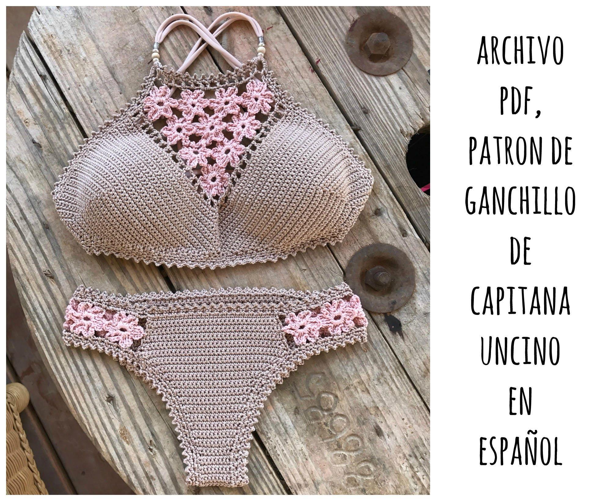 PDF PATRON de Ganchillo, Coralia Brazilian Bikini, 2 partes, tallas ...