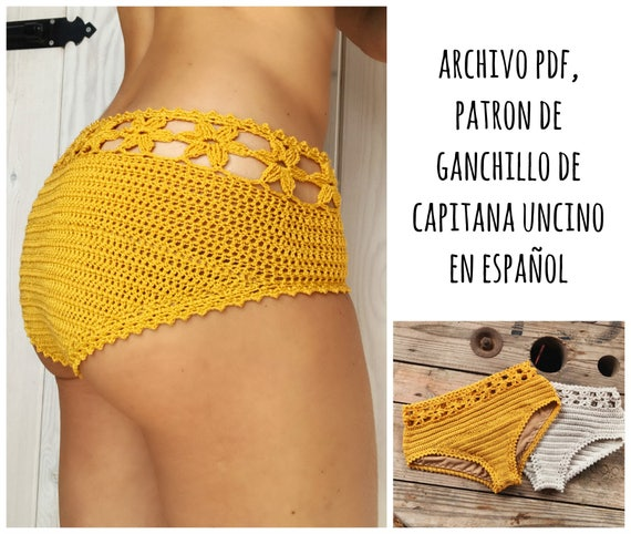 PDF PATRON de Ganchillo, Coralia Parte de Abajo, estilo hipster, tallas XS,S,M,L, en español