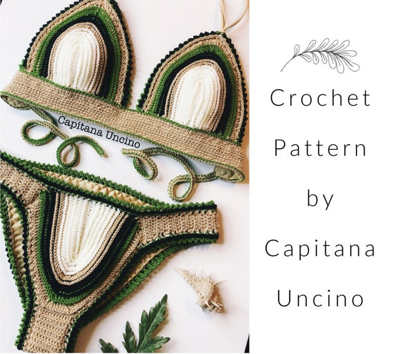 PDF-file for Crochet PATTERN, Equilibrium Crochet Bikini Top and Bottom, Sizes XS,S,M,L,Xl