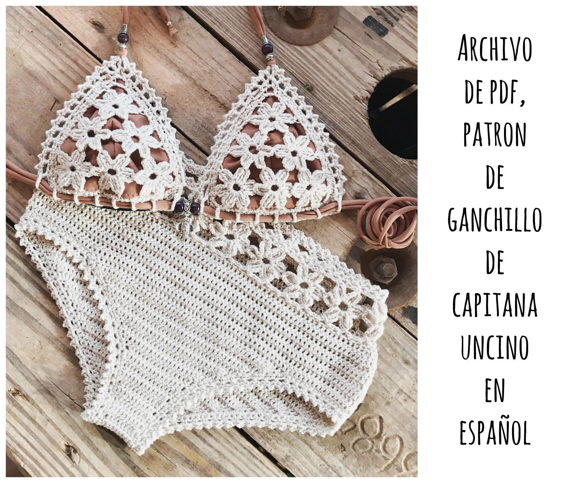 PDF PATRON de Ganchillo Coralia Bikini de las flores 2 | Etsy