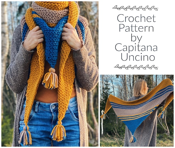 PDF-file for Crochet PATTERN,  Thuleia Scarf