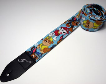 Children's Cartoon Guitar Strap - This is NOT a Licensed Product - Search and Rescue Dogs - Puppies