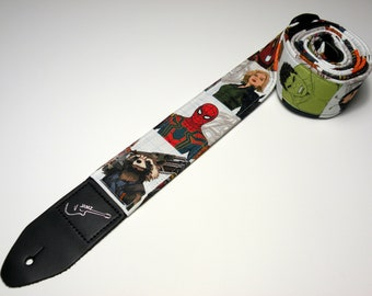 Super Hero Guitar Strap - This is NOT a Licensed Product - Handmade