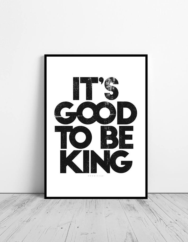 Its Good To Be King Tom Petty Song Lyrics Quote Etsy