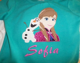 Personalized Frozen shirt Anna Olaf