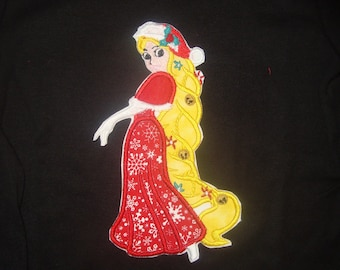 Princess Christmas iron on patches Punzel