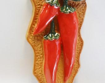 Hot Chili Pepper Plant #2 Deco Magnet Decorative Fridge Kitchen Décor Chilli