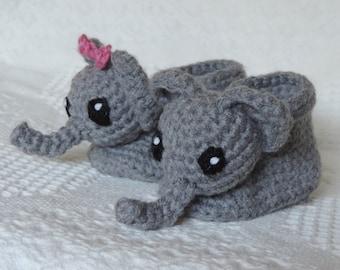 Elephant Baby Booties