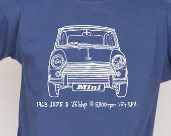 Mini cooper S | Classic Mini | Cooper S |Retro car T-Shirt | Hand Screen Printed | I made It |
