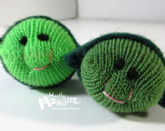 THUMBKIN Pea in a Pod; Choose your color;  Pea Pod Toy; kawaii toy;tiny knit toy; pocket plushie; Thumbkin toy; repurposed gloves;Single Pea