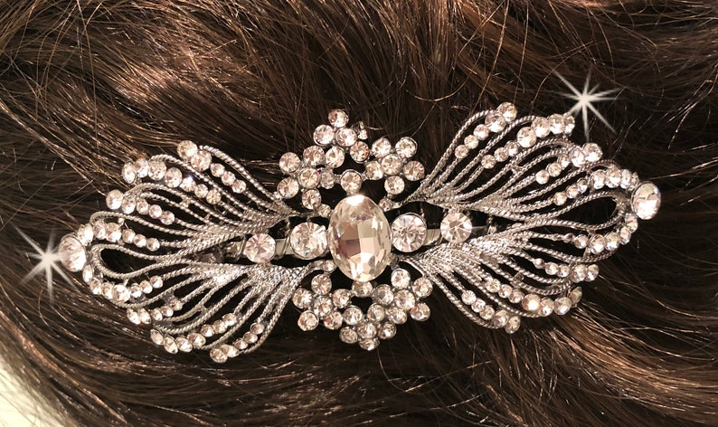 Hair Accessory Metal Comb Vintage Side Comb French Tuck comb flower pearl leaves