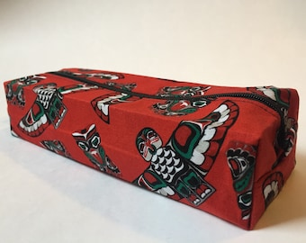 Native Indian West coast print pencil case back to school pouch