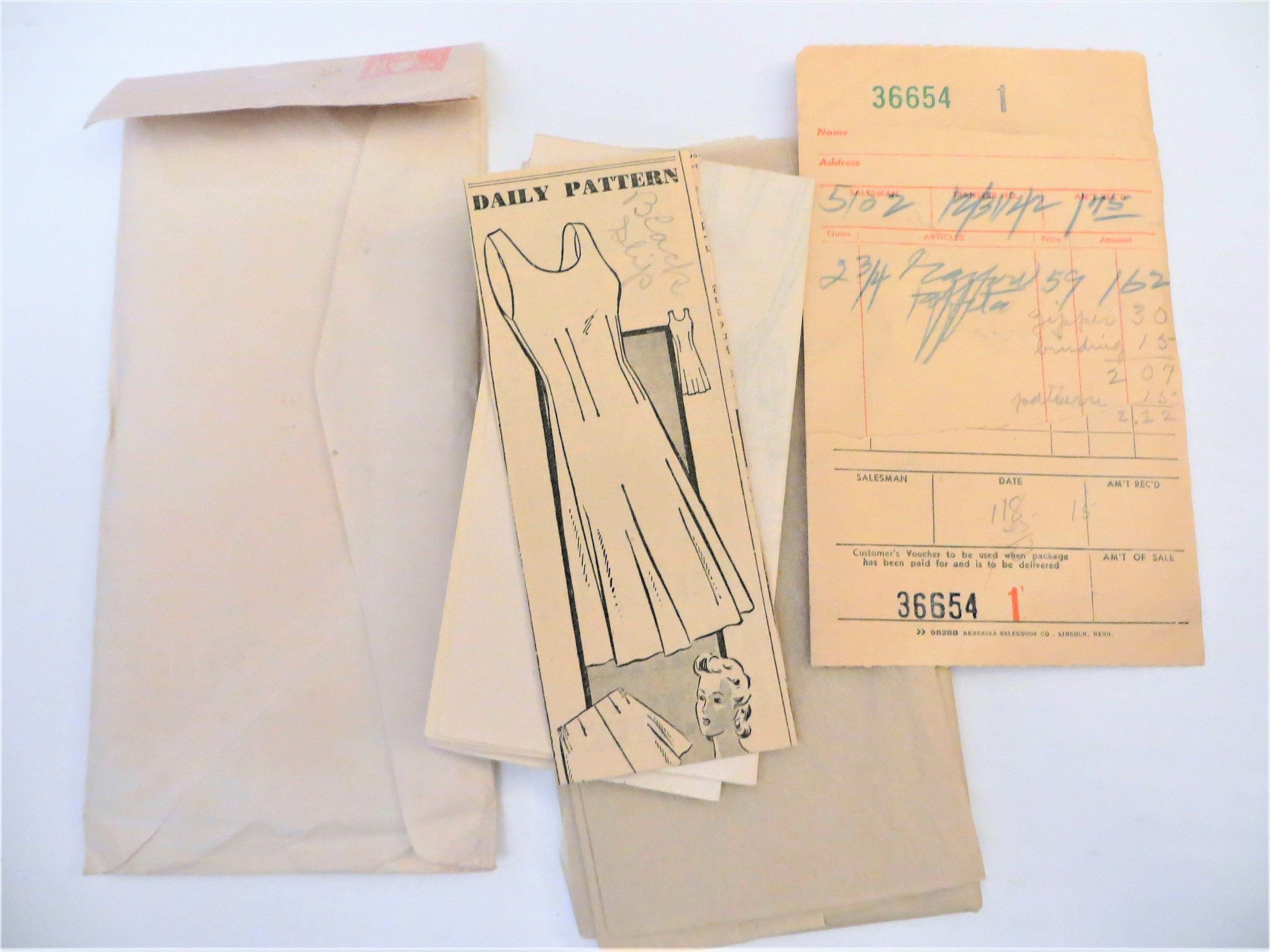 188e2a3bf8dee Vintage 40s Slip and High Waist Panties Sewing Pattern May | Etsy