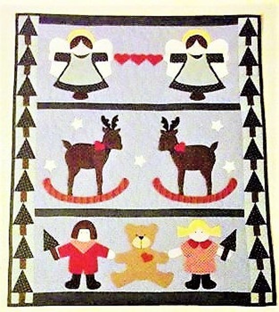 Christmas Quilt Pattern Christmas Companions Etsy Adorable Christmas Quilt Patterns