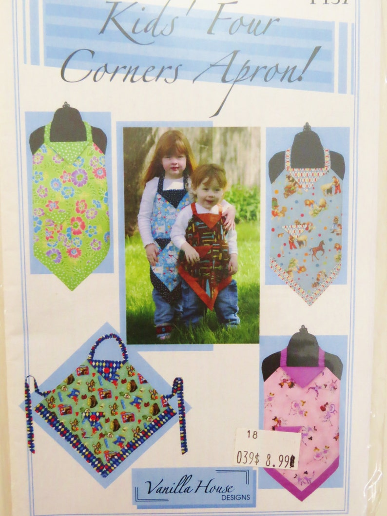 Outstanding Childs Apron Pattern Kids Four Corners Apron Sewing Pattern Vanilla House Size Small Medium Large Childrens Aprons Uncut Download Free Architecture Designs Scobabritishbridgeorg