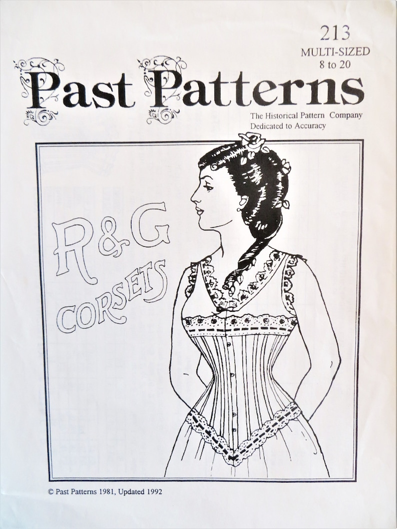 Victorian Lingerie – Underwear, Petticoat, Bloomers, Chemise     Victorian Corset Pattern Past Patterns 213 19th Century Fitted Laced Corset Top Historical Reproduction 10 12 14 16 18 20 uncut  AT vintagedancer.com