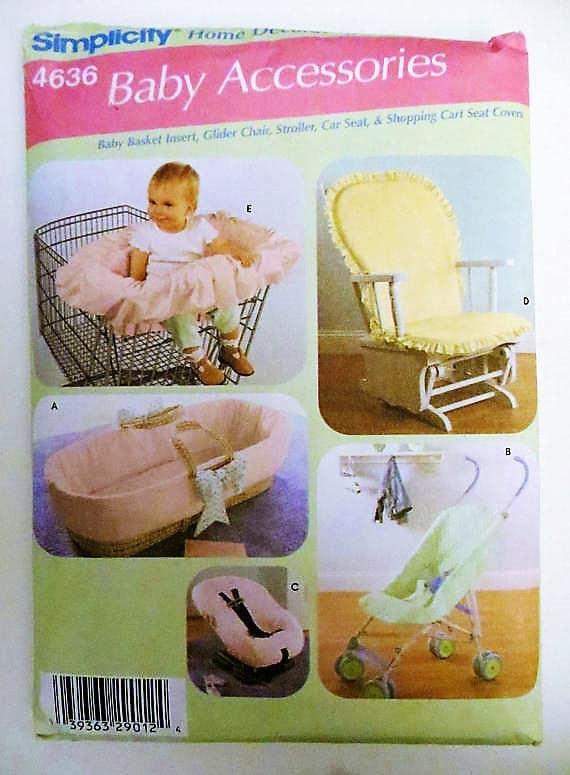 Einfachheit 4636 Baby-Zubehör-Schnittmuster Baby-Korb legen | Etsy