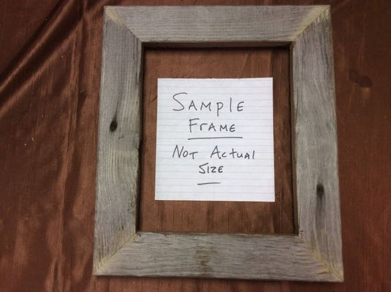 Flat 12x20 Barn Wood Picture Frame Hand Crafted One At A Etsy