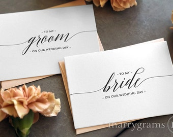 personalised wife card card for bride card for future wife future mrs future wife card To my bride on our wedding day wedding day card