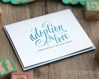 Adoption card etsy adoption is love unique greeting card for adoptive parents congratulations new addition to the family cards m4hsunfo