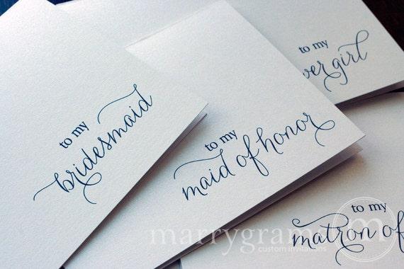 Bridesmaid Thank You Wedding Party Note Cards Bridesmaid Etsy