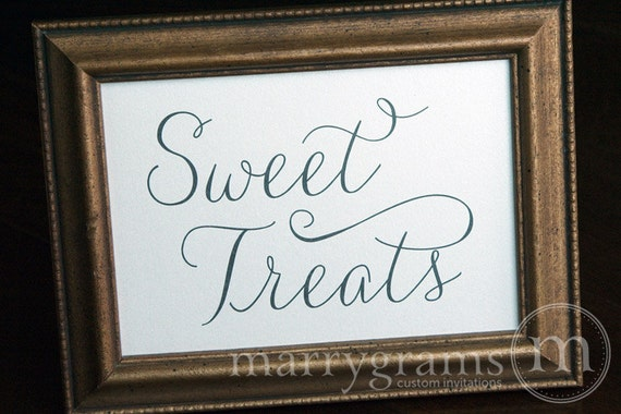 Brilliant Sweet Treats Candy Buffet Dessert Station Table Card Sign Wedding Reception Seating Signage Matching Numbers Available Ss01 Interior Design Ideas Gentotryabchikinfo